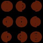 Samolepka na zeď: Kruhy ve čtverci (1064) na stěnu