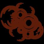 Samolepka na zeď: Kruhy s listama (1068) na stěnu