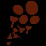 Samolepka na zeď: Kružnice v trsu (1088) na stěnu