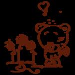 Samolepka na zeď: Medvídek s květinami (1138) na stěnu
