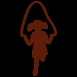 Samolepka na zeď: Holčička se švihadlem (1163) na stěnu