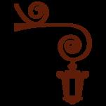 Samolepka na zeď: Lampa pouliční (1180) na stěnu