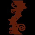 Samolepka na zeď: Květinový sloup (1229) na stěnu