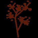 Samolepka na zeď: Dekorační větvička (1249) na stěnu