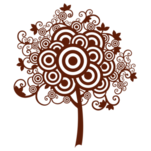Samolepka na zeď: Strom z kružnic (1268) na stěnu