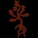 Samolepka na zeď: Stromeček s kořeny (1271) na stěnu