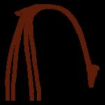 Samolepka na zeď: Žirafa symbol (1351) na stěnu