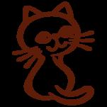 Samolepka na zeď: Kočička ilustrovaná (1353) na stěnu