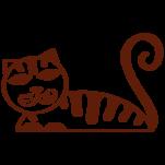 Samolepka na zeď: Kočka A (1355) na stěnu