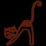 Samolepka na zeď: Kočka C (1357) na stěnu