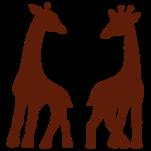 Samolepka na zeď: Žirafy (1361) na stěnu