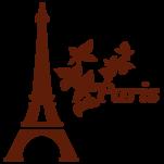 Samolepka na zeď: Eiffelovka (1369) na stěnu