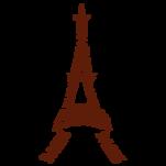 Samolepka na zeď: Eiffelovka A (1370) na stěnu