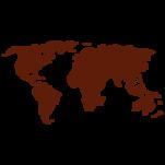 Samolepka na zeď: Mapa světa (1375) na stěnu