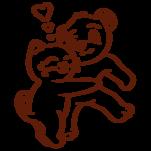 Samolepka na zeď: Pejsek a kočička (1426) na stěnu