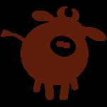 Samolepka na zeď: Dekorace kravička (1519) na stěnu
