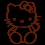 Samolepka na zeď: Hello Kitty (1575) na stěnu