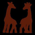 Samolepka na zeď: žirafy :5687: na stěnu