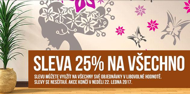 Sleva 25% na všechny samolepky (banner)