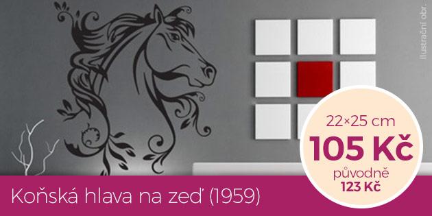 Koňská hlava na zeď (1959) – samolepka na zeď