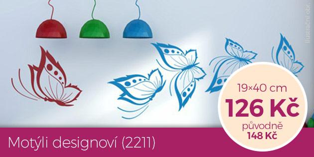 Motýli designoví (2211) – samolepka na zeď